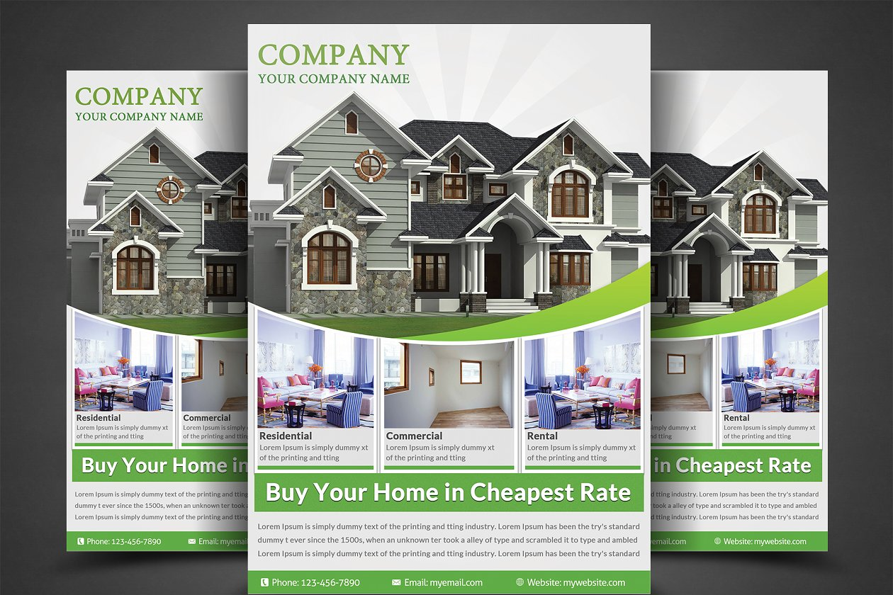 Real Estate Flyers - Flyer Templates | Creative Market Pro