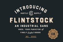 Flintstock - Industrial Display Font