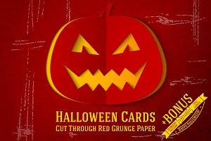 Halloween Papercut Cards + Bonus