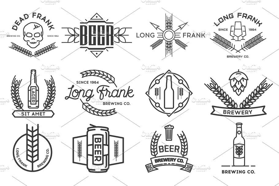 Vector beer logos.