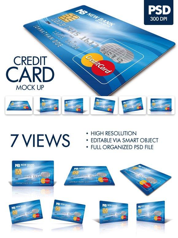 Download Plastic Credit Card Mockup