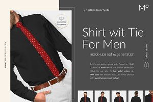 Men Tie Shirt Mock-ups Set FREE DEMO