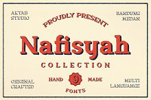 Nafisyah Slab - 9 Layered Font by  in Slab Serif Fonts