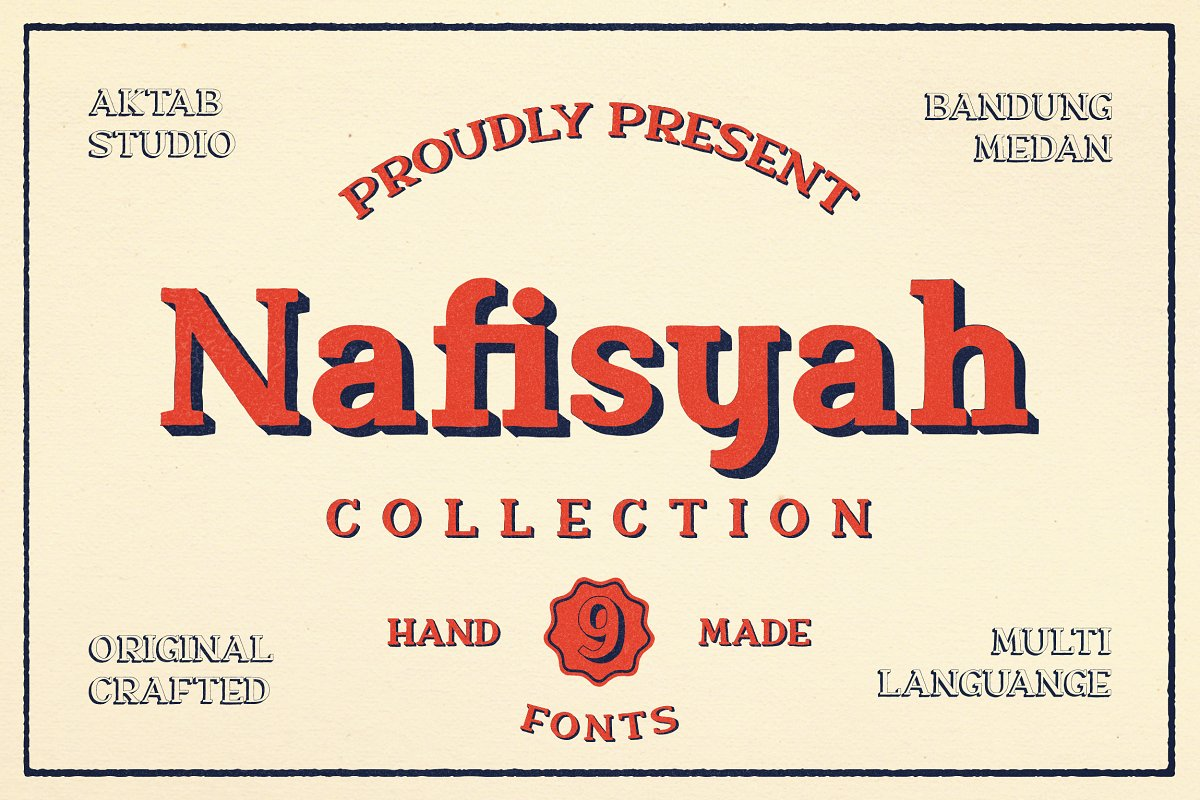 Nafisyah Slab - 9 Layered Font