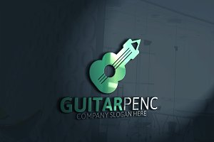 Guitar Pencil Logo
