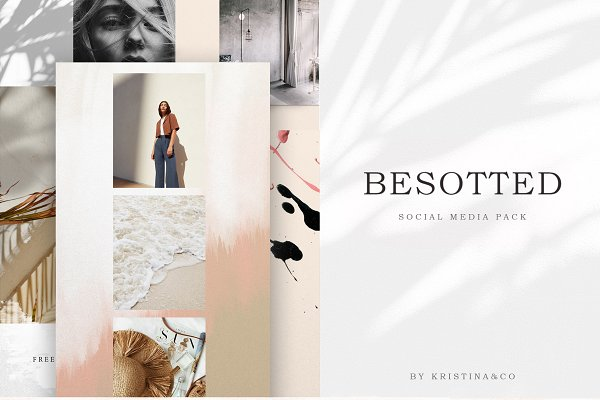 Instagram Templates: Kristina&Co - Besotted Social Media Pack