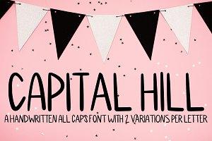 Capital Hill - Handwritten Caps Font