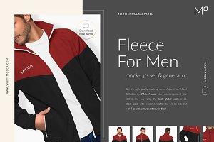 Men Fleece Mock-ups Set FREE DEMO