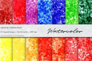 Watercolor, Ink Digital Papers