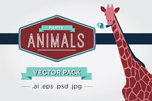 Party Animal Vector Pack