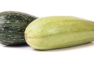zucchini and squash isolated on