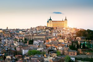 Toledo, Spain old town cityscape