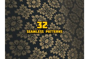 32 Seamless Patterns Background Coll