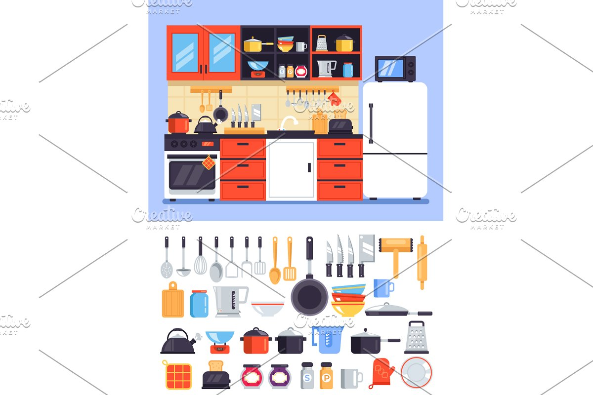 Kitchen decorative apartment