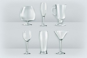 Cocktail glasses collection