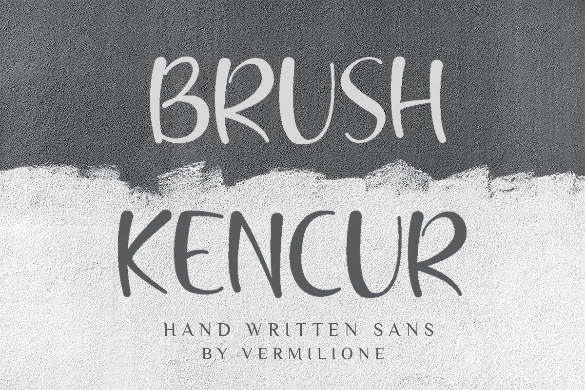 Brush Kencur Hand Written Sans