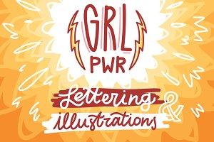 GRL PWR! Illustrations+Lettering