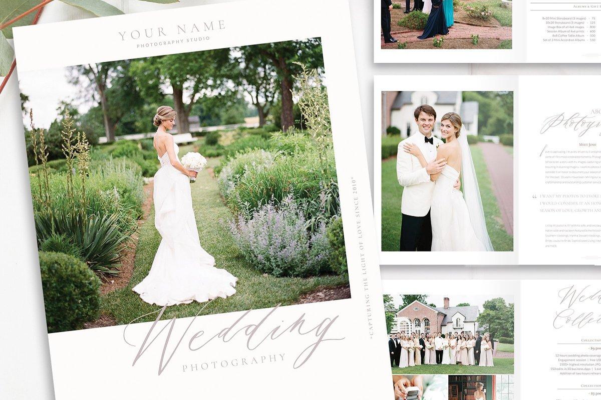 InDesign Wedding Photo Magazine