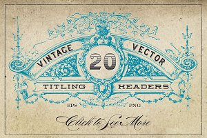 Vintage Vector Titling Headers
