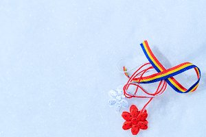 Martisor and Romanian tricolor