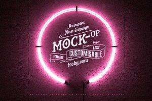 ANIMATED Logo Mock-Up   Neon Ring