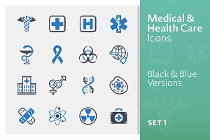 Medical & Health Care Icons - Set 1