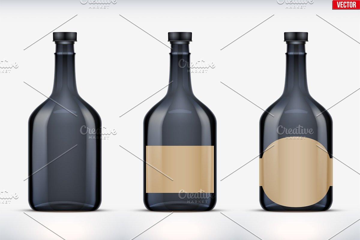 Rum bottle set mockup