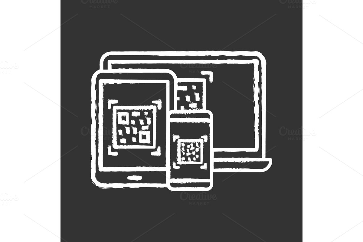 QR codes on different devices icon