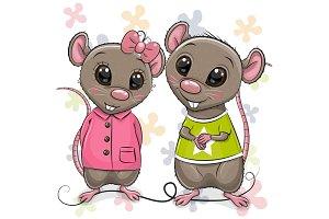 Two Cartoon Rats