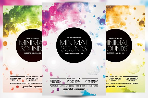 Minimal Sounds Flyer