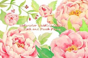 Wedding Pink Peony Peach Peony