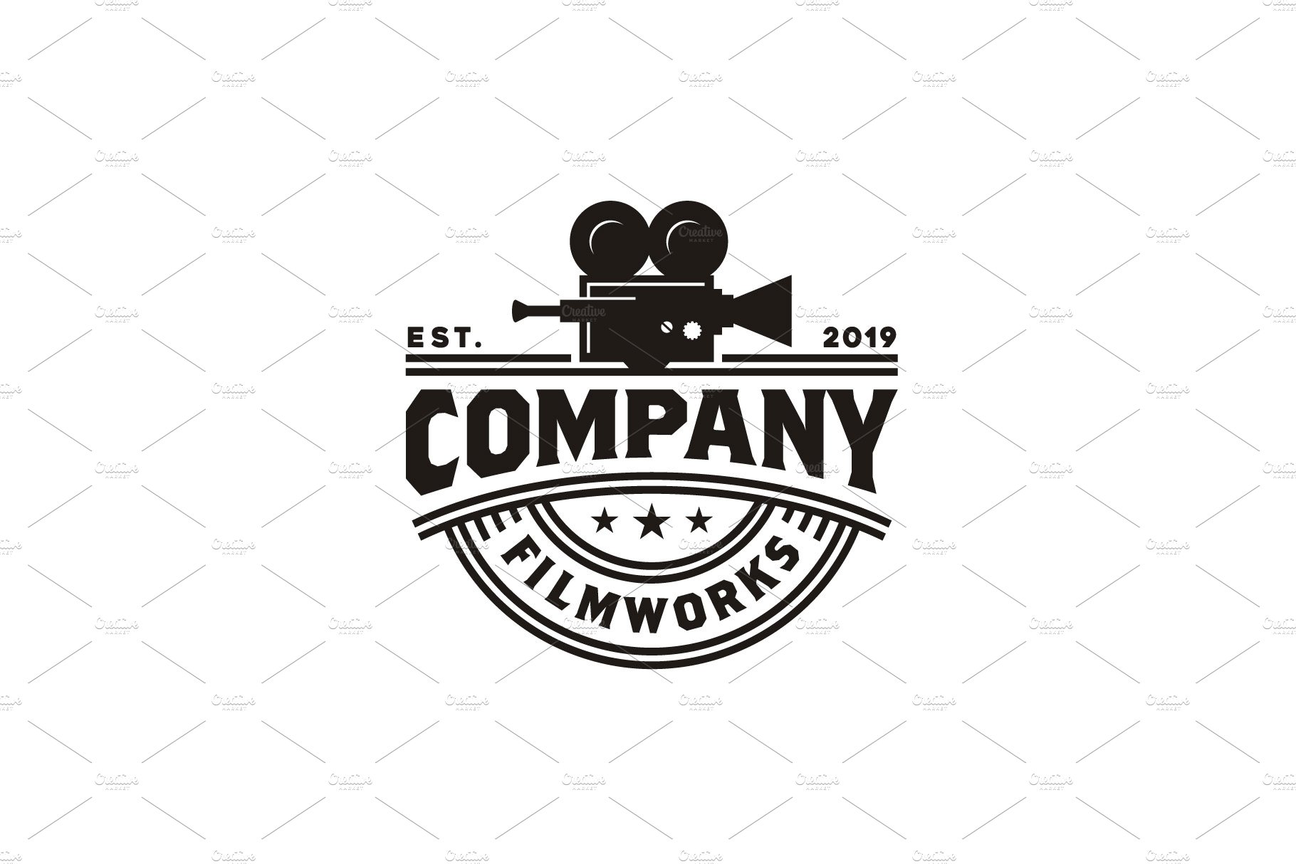 Vintage Video Camera Logo Design Creative Illustrator Templates Creative Market