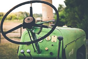 Old Tractor on Farm 2