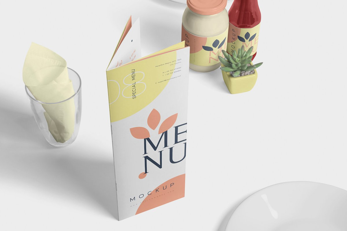 Food Menu Book Mockups