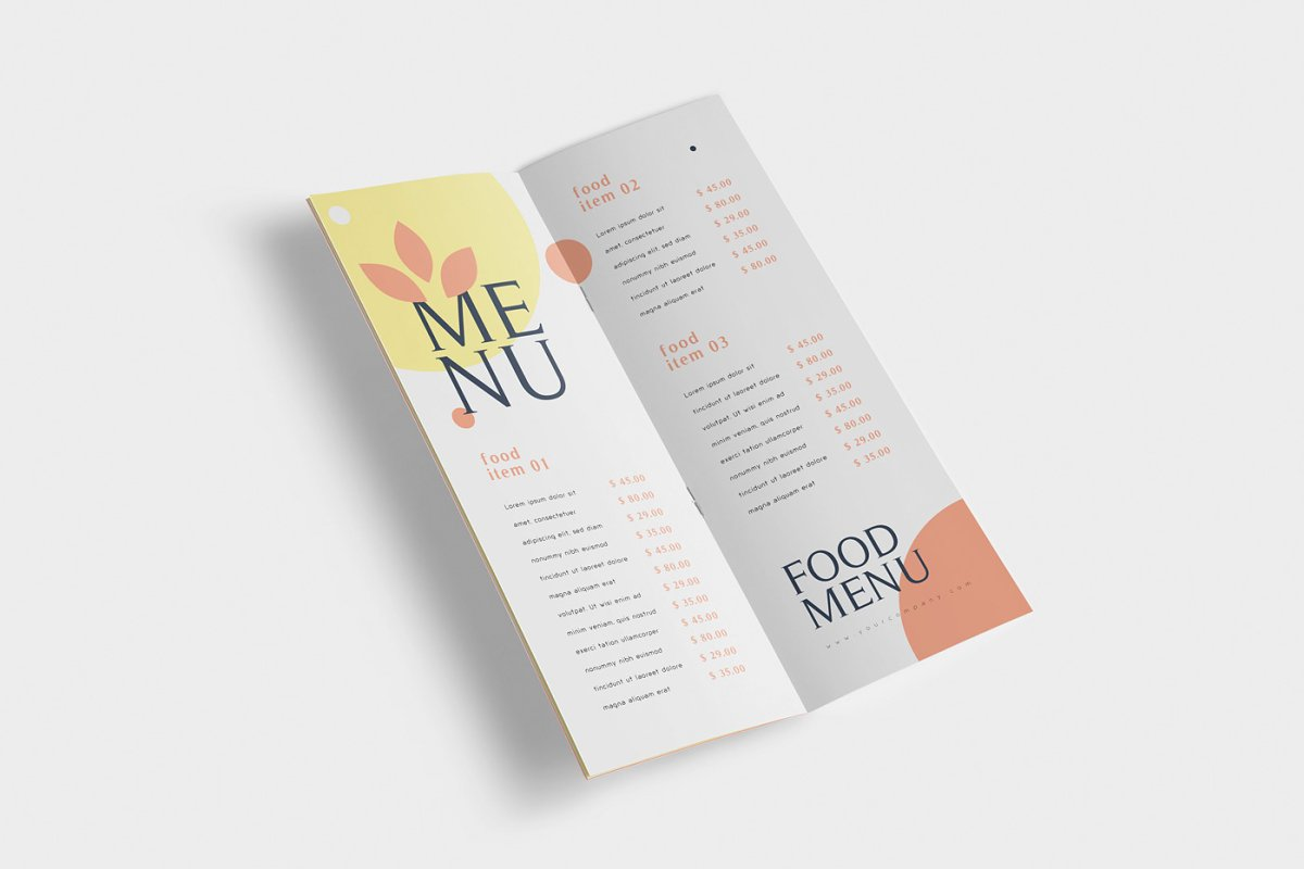 Food Menu Book Mockups in Product Mockups - product preview 2
