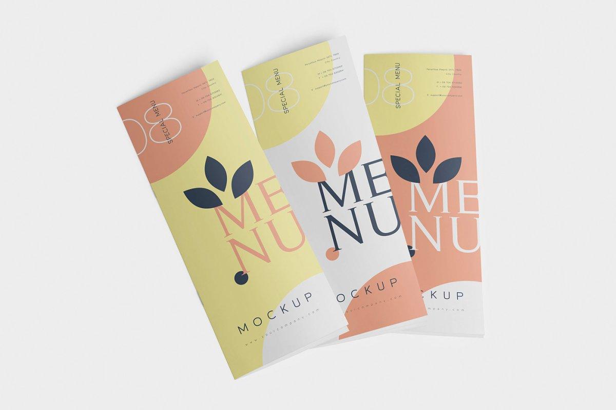 Food Menu Book Mockups in Product Mockups - product preview 4