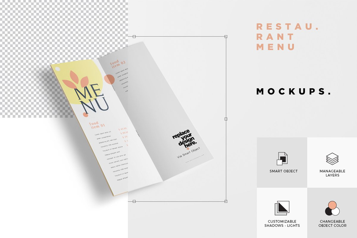 Food Menu Book Mockups in Product Mockups - product preview 7