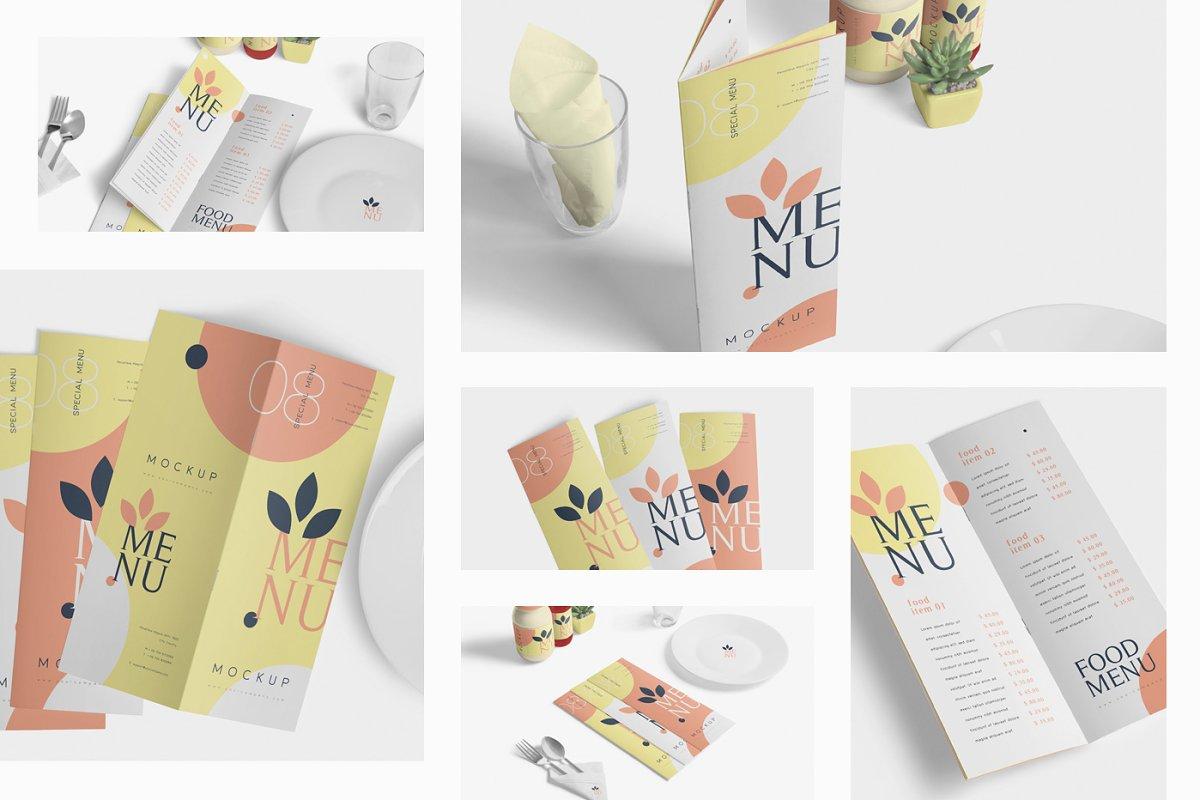 Food Menu Book Mockups in Product Mockups - product preview 1