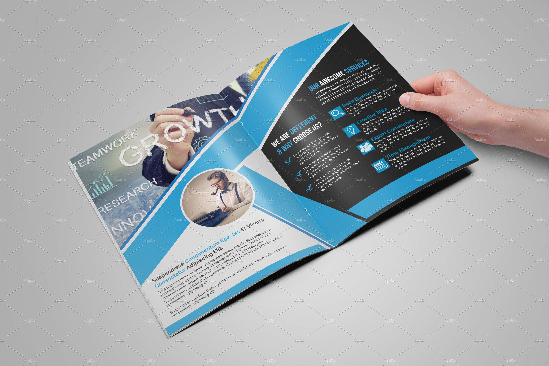 bi fold brochure template brochure templates creative market. Black Bedroom Furniture Sets. Home Design Ideas