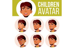 Arab, Muslim Boy Avatar Set Kid