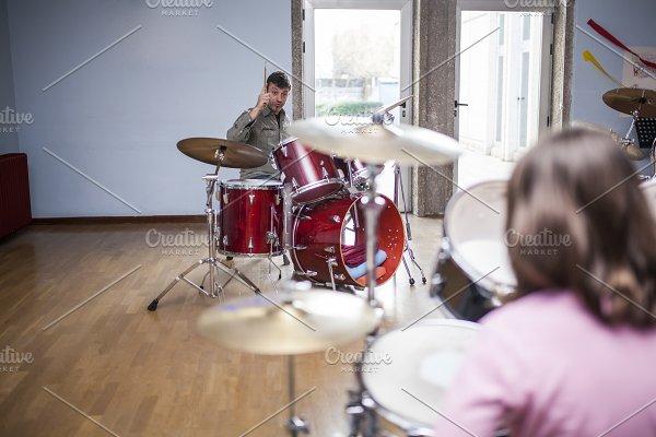 Drum class in a music school ~ Education Photos ~ Creative