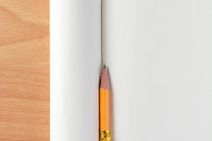 Pencil Stub Blank Notebook