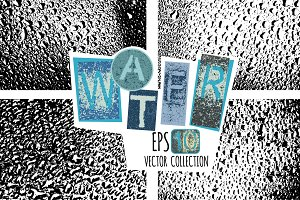 Water drops vector texture