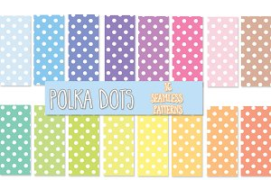 16 polka dot seamless patterns