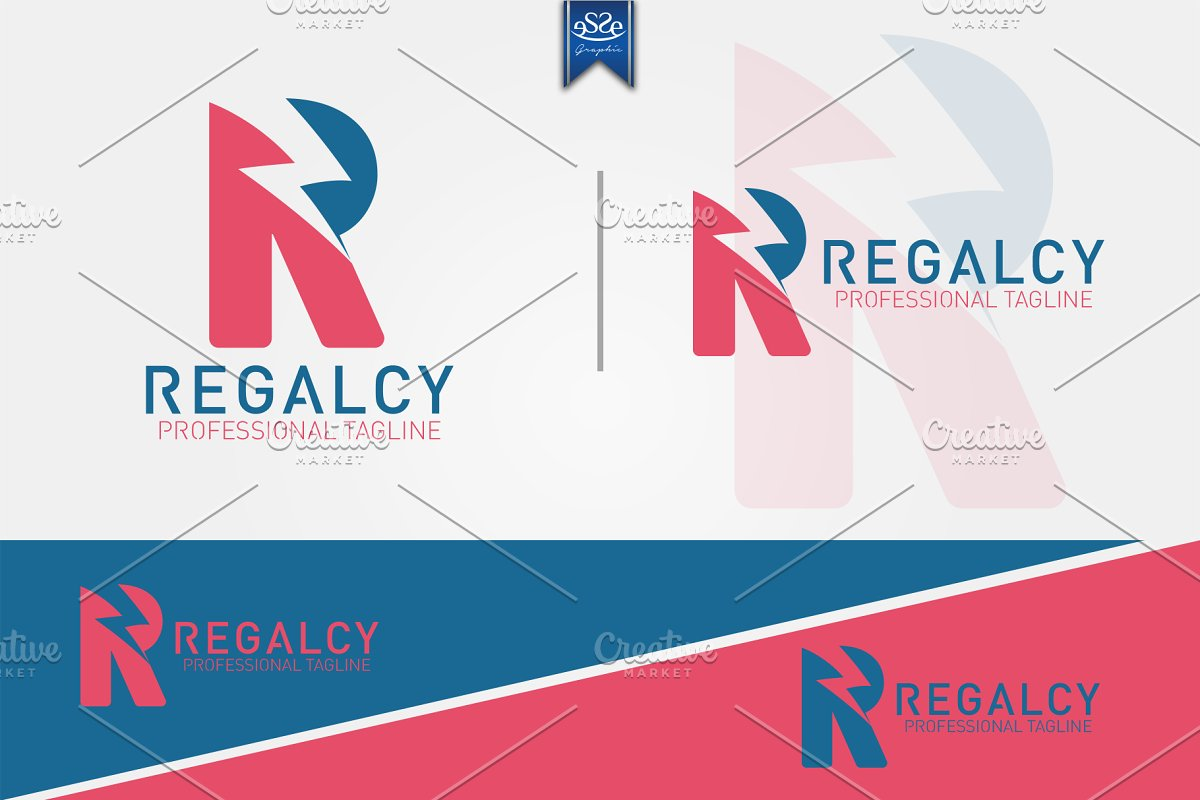 Lightning Letter R Logo ~ Logo Templates ~ Creative Market