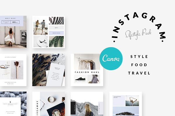 Social Media Templates - CANVA | Instagram-Style Food Travel2