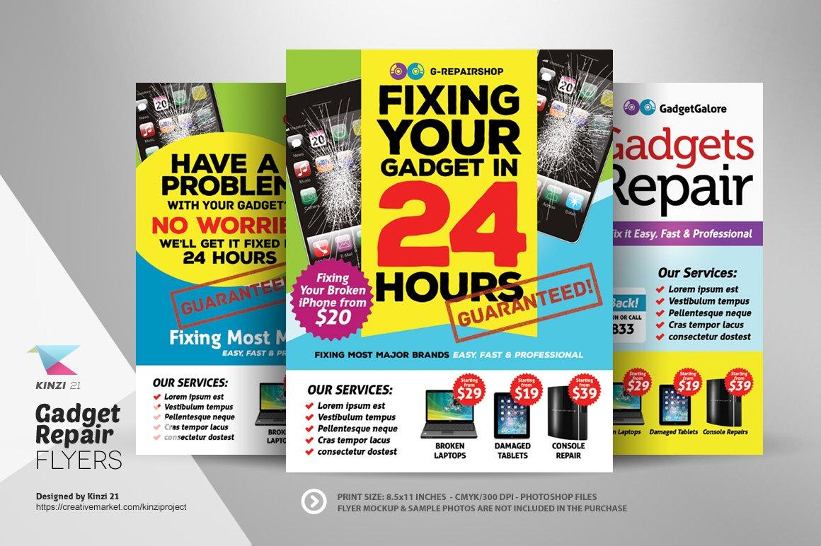 Gadget Repair Flyer Templates Flyer Templates Creative