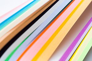 Abstract multicolored paper