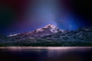 Night sky Landscape Patagonia