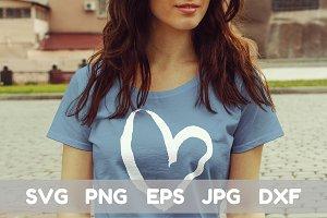 Heart Print Svg